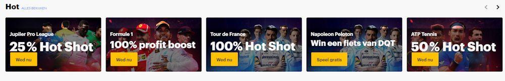 Napoleon Games Sportweddenschappen met Profit Boost en Hot Shot